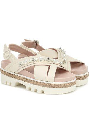 Simone Rocha Women Sandals - Embellished leather sandals