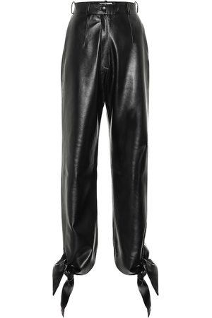 Matériel Tbilisi Women Leather Pants - High-rise faux-leather pants