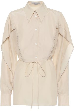 Stella McCartney Women Long sleeves - Tayla silk-georgette shirt