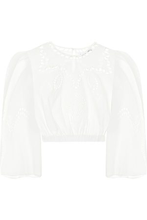 Rhode Women Crop Tops - Casper embroidered cotton crop top