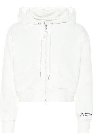 Adam Selman Sport Women Hoodies - Cropped cotton-blend hoodie