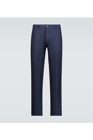 Polo Ralph Lauren Men Skinny Pants - Pinstriped slim-fit pants