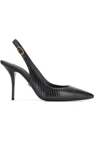 Dolce & Gabbana Snakeskin effect slingback pumps