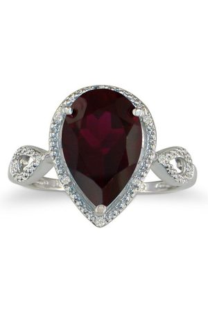 SuperJeweler 3 1/2 Carat Pear Shaped Garnet & Diamond Ring in (2.9 g)