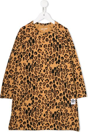 Mini Rodini Girls Printed Dresses - Leopard pattern shift dress