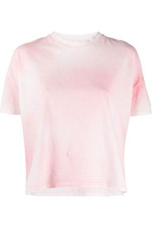 Moncler Cropped tie-dye T-shirt