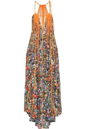 Stella McCartney Klara floral pleated silk maxi dress