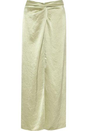 Nanushka High-rise hammered-satin skirt