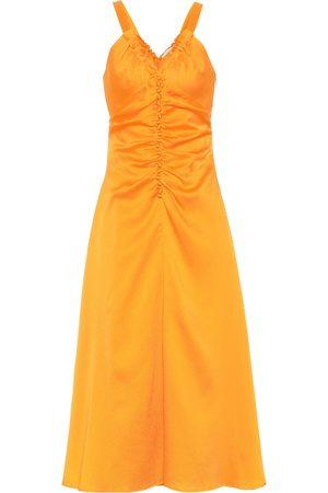 REJINA PYO Toni hammered silk-satin dress