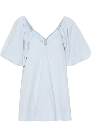 CO Tton-blend minidress