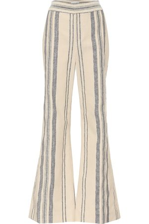 MONSE Striped high-rise flared pants
