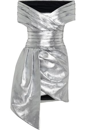 ALEXANDRE VAUTHIER Metallic off-shoulder minidress