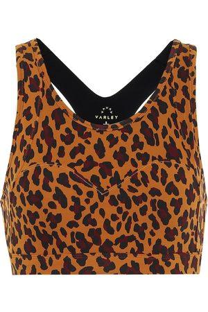 Varley Basset cheetah-print sports bra