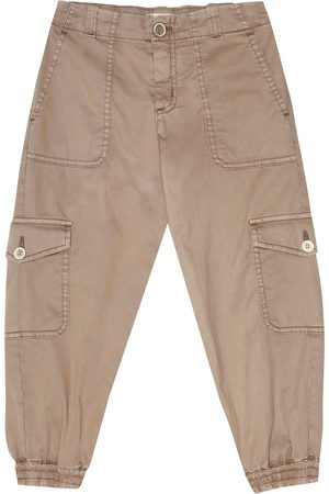 Brunello Cucinelli Stretch-cotton tapered pants
