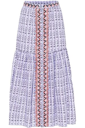 TEMPERLEY LONDON Poet printed high-rise cotton skirt