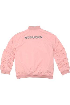 Woolrich Logo bomber jacket