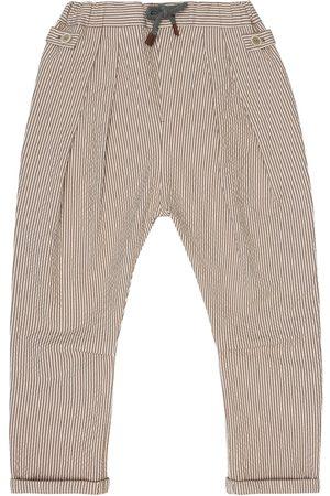Brunello Cucinelli Stretch-cotton seersucker pants