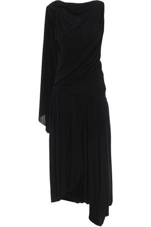 J.W.Anderson One-sleeve Draped Jersey Dress
