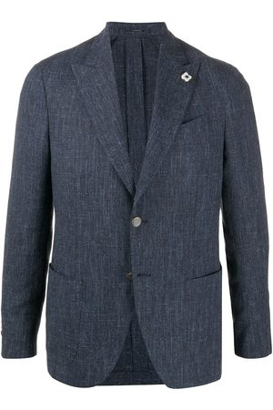 LARDINI Single-breasted pin detail blazer