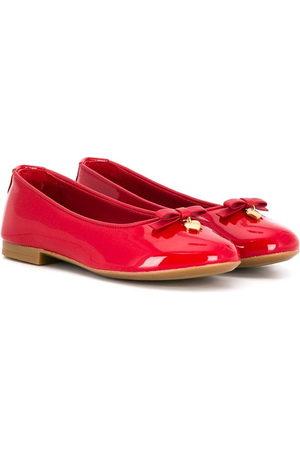 Dolce & Gabbana Logo-charm ballerina shoes