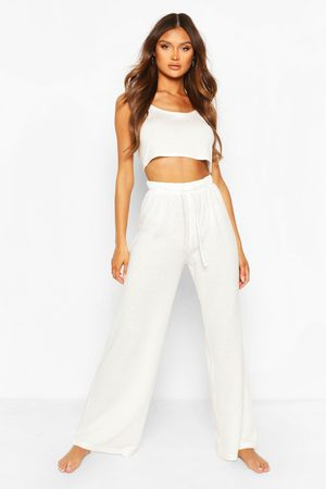 Boohoo Womens Mix & Match Super Soft Wide Leg Lounge Pant - - 4