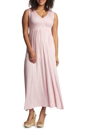 Everly Grey Women's Valeria Maternity/nursing Maxi Dress