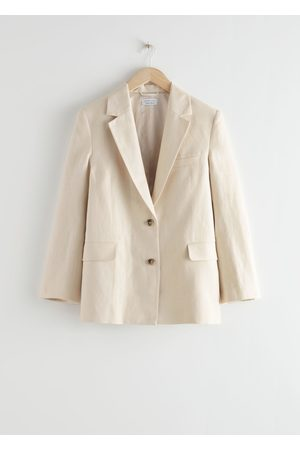 & OTHER STORIES Boxy Linen Blend Blazer