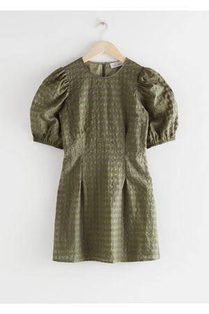 & OTHER STORIES Puff Sleeve Seersucker Mini Dress