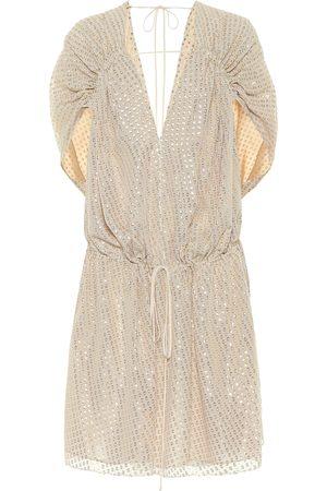 Stella McCartney Women Mini Dresses - Fil-coupé silk minidress