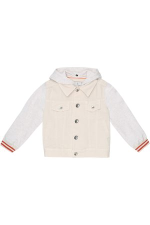 Brunello Cucinelli Boys Denim Jackets - Denim and jersey jacket