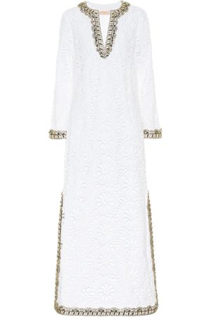 Tory Burch Women Maxi Dresses - Embellished broderie-anglaise maxi dress