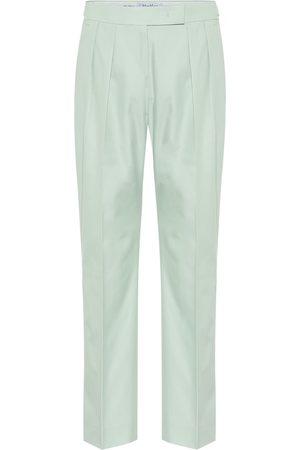 Max Mara Women Straight Leg Pants - Lucas cotton high-rise pants