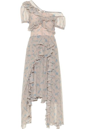 THORNTON BREGAZZI Women Printed Dresses - Floral stretch-crêpe midi dress