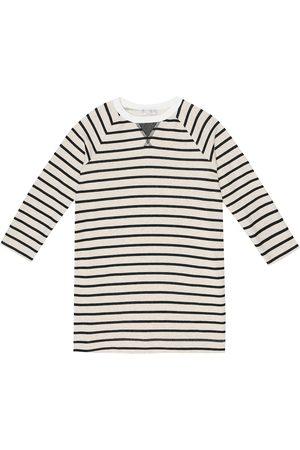 Brunello Cucinelli Striped cotton-jersey dress