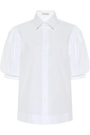 Alaïa Women Short sleeves - Cotton-poplin shirt