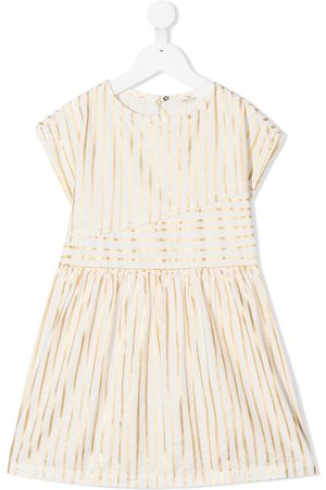 Le pandorine Striped cotton midi dress