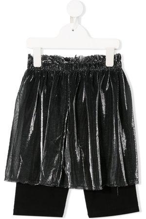 Le pandorine Girls Shorts - Layered mesh shorts
