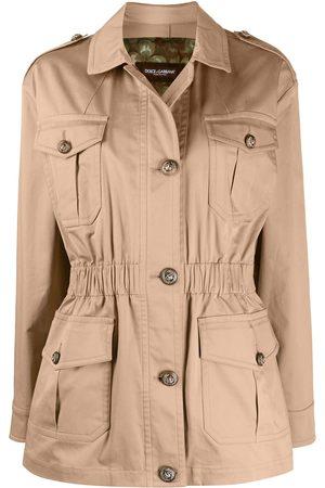 Dolce & Gabbana Pocket-detail button-up jacket - Neutrals