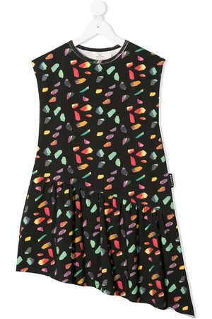 Le pandorine Girls Casual Dresses - Geometric-print asymmetric dress