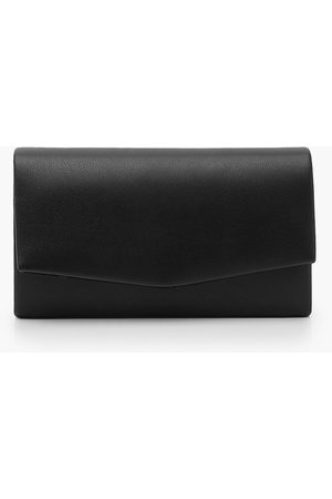 Boohoo Womens Smooth Pu Structured Clutch Bag & Chain - - One Size