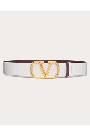 VALENTINO GARAVANI Women Belts - Reversible Vlogo Signature Belt In Glossy Calfskin 40 Mm / 1.6 In. Women 100% Pelle Di Vitello - Bos Taurus 75