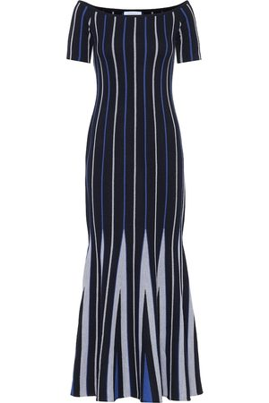 GABRIELA HEARST Medea striped wool maxi dress