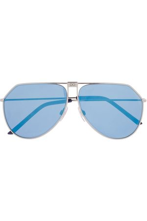 adidas DG2248 aviator-frame sunglasses - Metallic