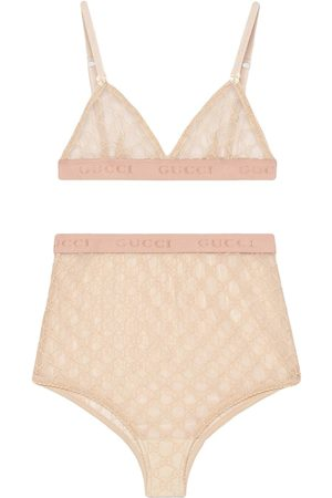 Gucci Women Bras - Lingerie set in tulle GG