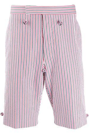 Thom Browne Men Bermudas - Backstrap striped shorts