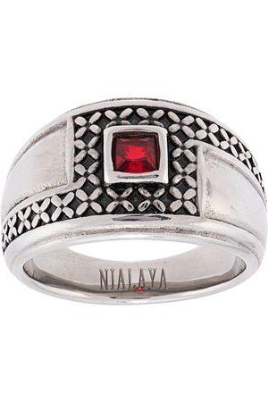 Nialaya Jewelry Pavé stone detail ring