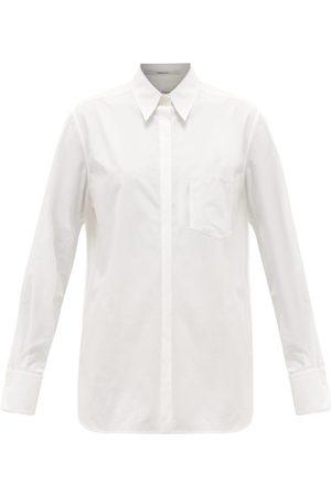 Another Tomorrow Women Shirts - Oversized Chest-pocket Organic Cotton-poplin Shirt - Womens