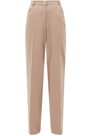Another Tomorrow High-rise Wool Flared Trousers - Womens