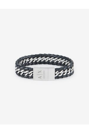 ARMANI EXCHANGE Bracelet Soft Leather, Stainless Steel