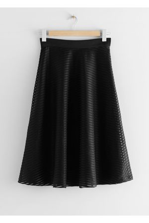 & OTHER STORIES Striped A-Line Skirt